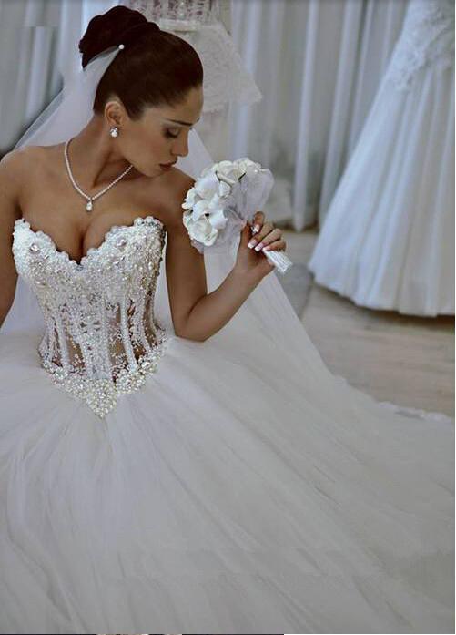 Online Get Cheap White Sparkly Princess Wedding Dress -Aliexpress ...