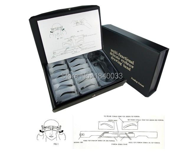 Hot Sale Multi-function Eyebrow For Permanent Makeup 12pcs/set Eyebrow Shape Tattoo Accesories Eyebrow Makeup Tool