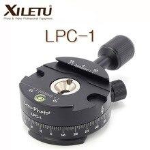"""Xiletu LPC 1 360 Độ Toàn Cảnh Nền Tảng Chân Máy đầu Gắn Adapter Kẹp Cho Arca Thụy Sĩ KTS 1/4 """"  vít 3/8"""""""