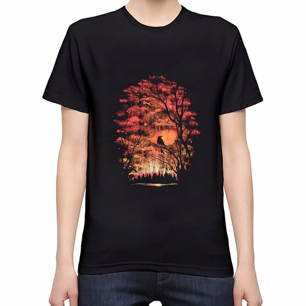 New Design T Shirt Men Brand Clothing Fashion Printed Burning In The Skies Male Top Quality 100% Cotton T Shirt