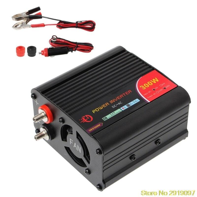Nuevo 600 W/400 W/500 W/220 W convertidor inversor de potencia DC 12 V a 300 V AC inversor de coches con adaptador de coche soporte de envío directo