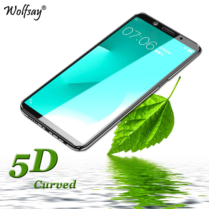 5D Curved Edge Tempered Glass OPPO F5 Screen Protector Glass FOR OPPO F5 Full Cover Protective Film OPPO A73 / OPPO F5 Youth