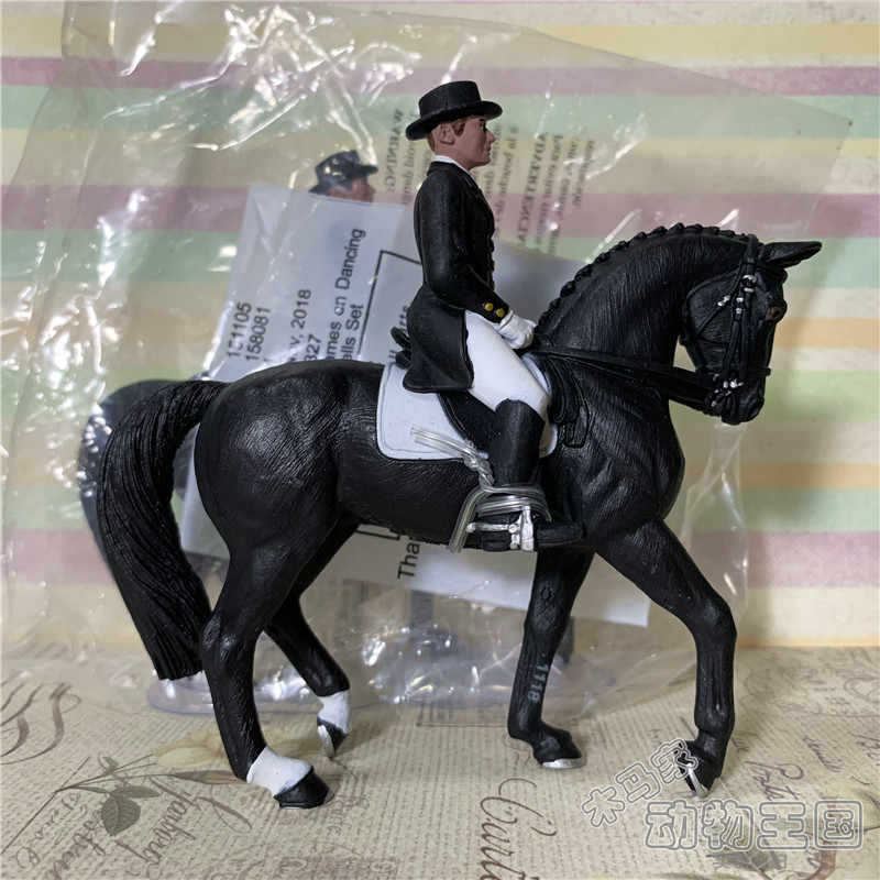 pvc figure model gentleman rider+ horse toy