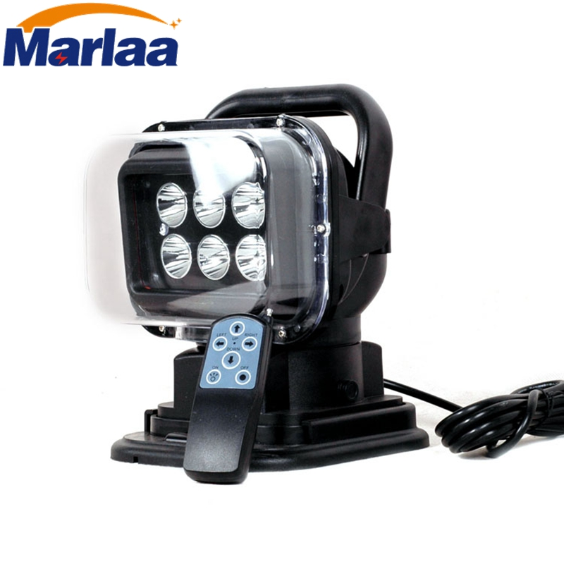 Marlaa степени 30W СИД 360 вращающийся пульт дистанционного управления работа пятно света для внедорожник лодка домашнем поле безопасности фермы