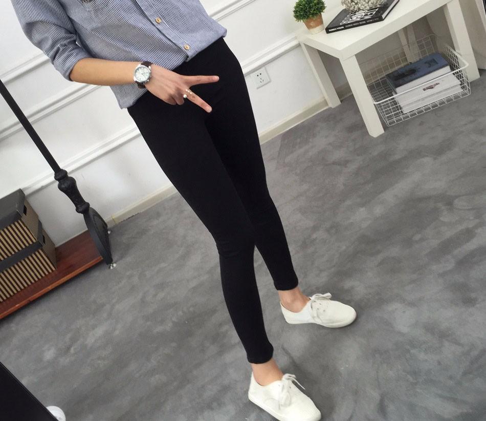 BIVIGAOS Basic Skinny Womens Jeans Ankle Pencil Pants Slim Elastic Denim Pants Jean Leggings Female Cotton Jeggings Jeans Women 16