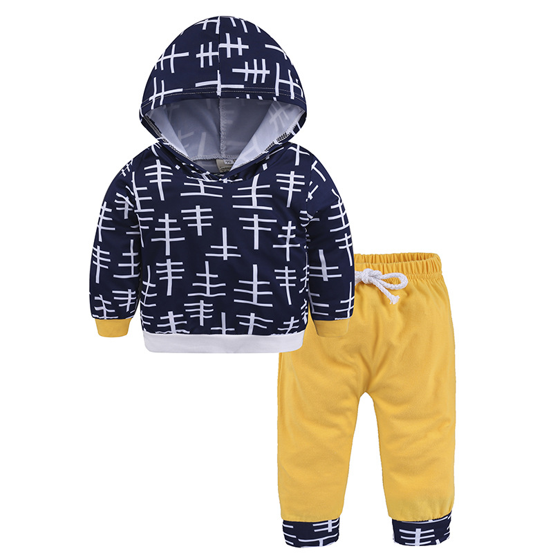 Kids Boys Clothes Baby Clothing Sets Newborn Toddler Infant Baby Boy Girl Clothes Hooded Tops+Pants Outfits Set