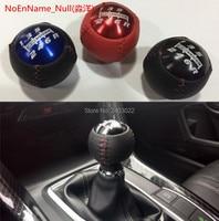 For mugen style black/red5/6 Speed M10*1.5Mugen Gear Shift knob leather for Honda EK9 EP3 FN2 DC2 DC5 S2000 FD2