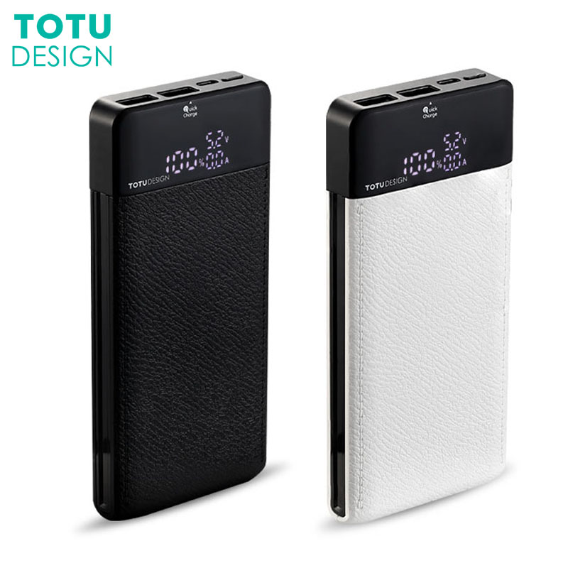 TOTU Quick Charge 3.0 Power Bank 10000mAh Dual USB LCD Powerbank External Battery Charger For iPhone Xiaomi Tablets Powerbank
