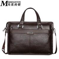 Mark saxton brand design uomo borsa commerciale maschio del cuoio genuino della mucca degli uomini di spalla casual borsa in vera pelle valigetta