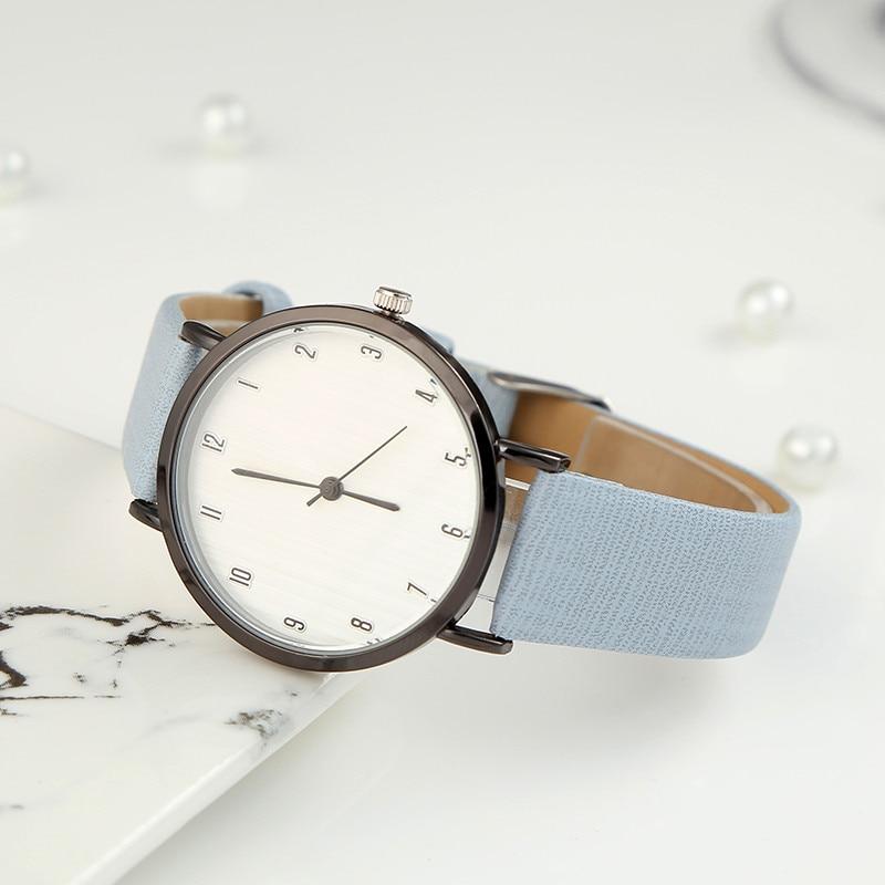 Minimalist dial Quartz Women Watch Watches Denim Simple Leather Strap Men's Casual Analog WristWatch Relogio Feminino Watch