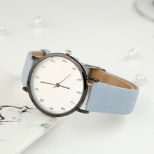 Minimalist dial Quartz Women Watch Watches Denim Simple Leather Strap Men's Casual Analog WristWatch Relogio Feminino Watch
