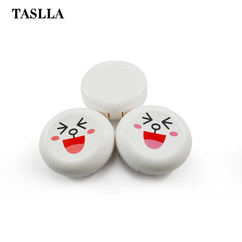TASLLA Новый чехол для контактных линз Милый Белый Кот смеющееся лицо корпус контактных линз Очки Аксессуары контейнер для контактных линз A8017