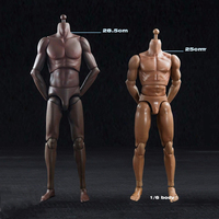 1 6 Male Sports Body Figure Suntan Skin Color Super Flexible Male Mascular Action Figures Collection