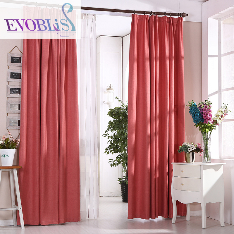 Modern Minimalist Style Chenille Curtains For Living Room Red Curtains For  Bedroom(China (Mainland