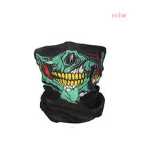 2017 NEW Bicycle Ski Skull Half Face Mask Ghost Scarf Multi Use Neck Warmer COD A828(China)