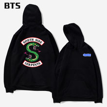 Fashion 2018 High Quality Cotton Hooded Customized Riverdale South Side Serpents Tracksuit Women Long-sleeved Pullovers Hoodies(China)