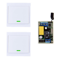 2X 86 Wall Panel Remote Transmitter Mini Size 220V 1CH 1CH 10A Wireless Remote Control Switch