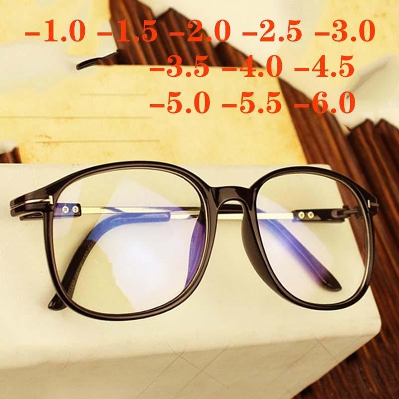 Retro Big Oversized Frame Eyeglasses Women Men Eye Glasses Optical Spectacle Oculos De Grau -1.0 -1.5 -2.0 -2.5 -3.0 To -6.0