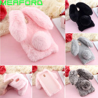 For Hoesje Samsung J7 2017 Case Cute Hairy Rabbit Doll Case For Samsung Galaxy J7 Pro