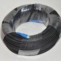 300 M 야외 FTTH 광섬유 드롭 케이블 패치 코드 SC SC Simplex SM SC-SC 300 미터 드롭 케이블 패치 코드