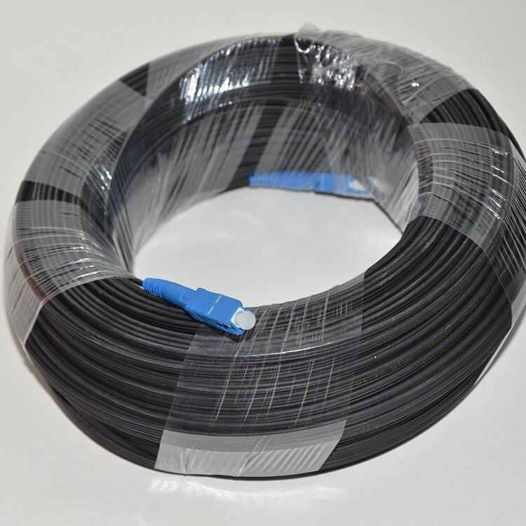 300 M En Plein Air FTTH Fiber Optique de Baisse Câble Patch Cordon SC à SC Simplex SM SC-SC 300 Mètres de Baisse Câble Patch cordon