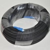 300M Outdoor FTTH Fiber Optic Drop Cable Patch Cord SC to SC Simplex SM SC SC 300 Meters Drop Cable Patch Cord