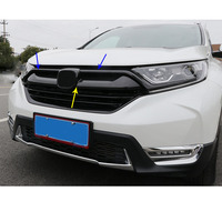For Honda CRV CR V 2017 2018 ABS Chrome Front decorative Grid Grill Grille racing frame stick Car Styling Accessories 3pc