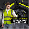 SFvest reflective waistcoat safety vests reflective multi pockets fluorescent yellow orange multi color options silk printing 2