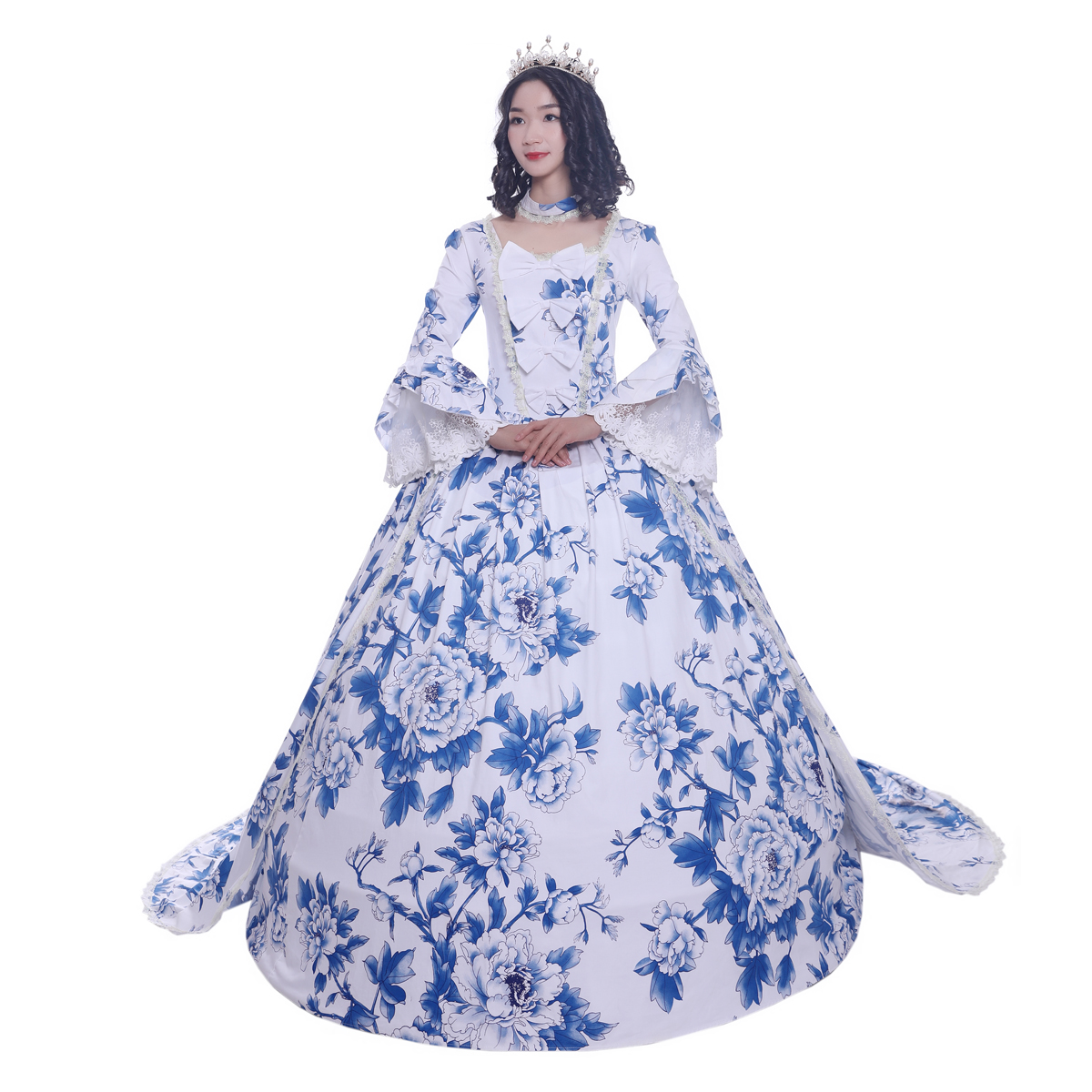 Women's Victorian Rococo Dress Maiden Ball Gown Period Dress Marie Antoinette Party Dresses Renaissance Princess Costumes