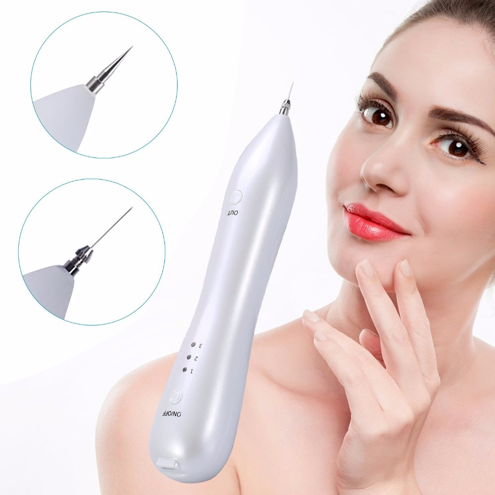 Dot Mole Removal Pen, Freckles, Senile Plaques, Tattoo Pigmentation Skin Tag Nevus Removing LCD Display Beauty Device NoBleeding