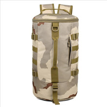 2016 New Men Army Barrel Bag Multifunction Backpack Portable Casual Travelling Backpack