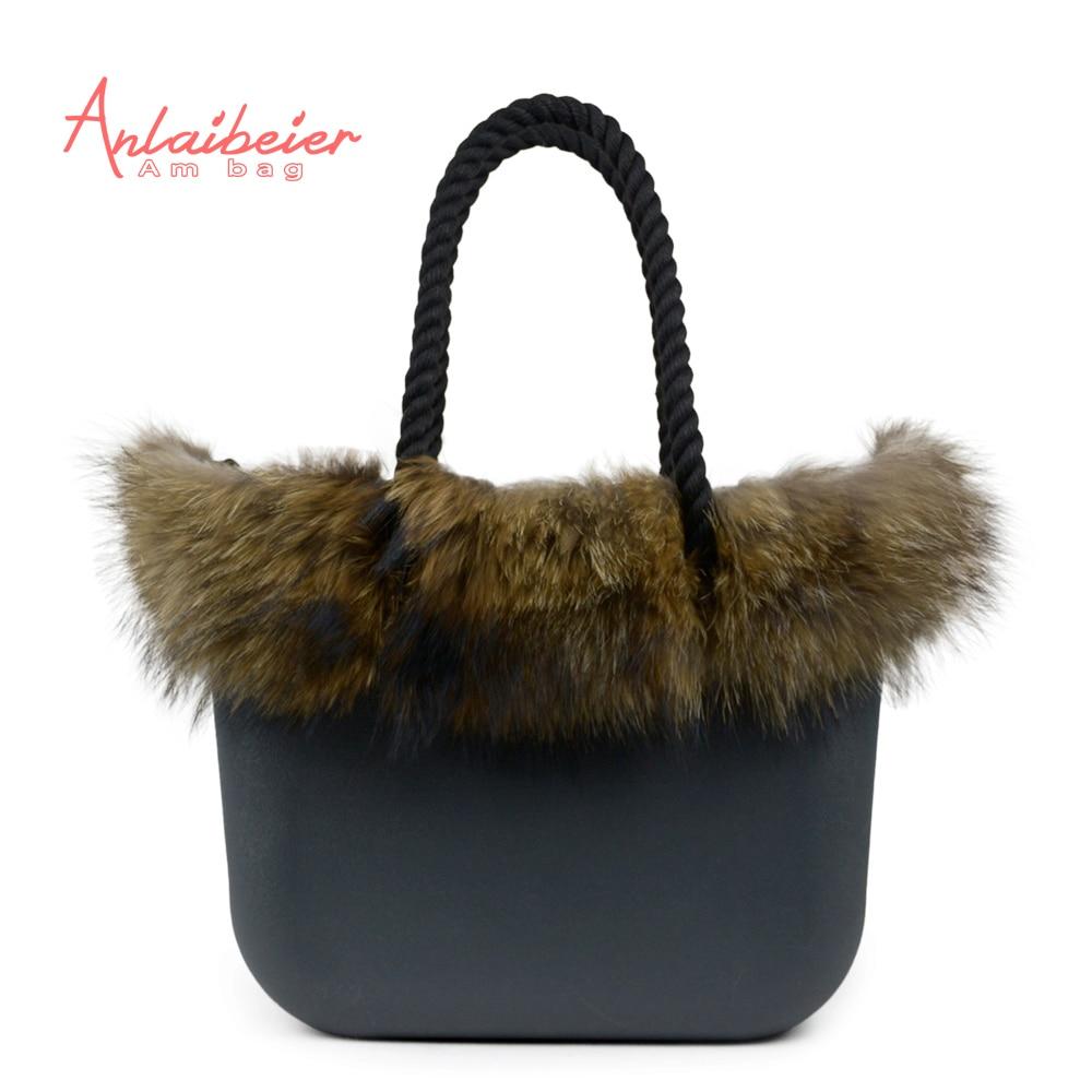 ANLAIBEIER Classic big Mini EVA bag Obag style complete AMbag with Racoon dog Fu