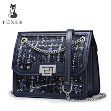 FOXER Lady Brand Design Chain Strap Messenger Bags Female Shoulder Bag New Fashion Crossbody Bag Women High Quality Elegant Flap цена