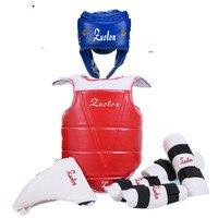 Adult Children Thickening Taekwondo Protector 5 Piece HeadGear Helmet Full protective Taekwondo Guard Bag
