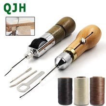 DIY Hand Sewing Machine Waxed Thread for Leather Leather Sewing Tool Leather Craft Edge Stitching Belt Strips Shoemaker Tools(China)