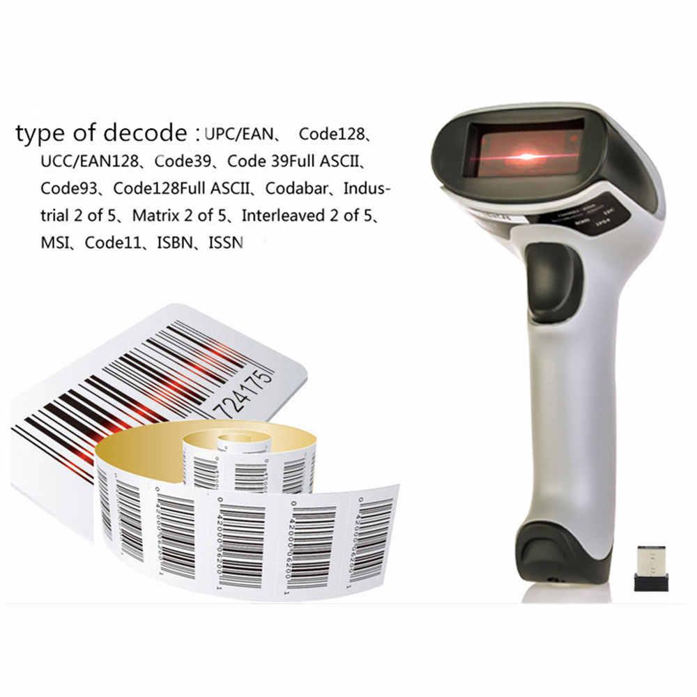 Netum Wireless Laser Barcode Scanner Tinggi Scaned Kecepatan Bar Code Reader Scaner untuk Pos dan Persediaan