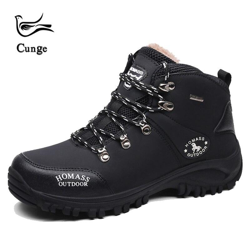 38-45 cunge winter männer Im Freien warme Wanderschuhe Tragbare Gummi Stiefel Atmungsaktiv Marke Trekking Schuhe klettern turnschuhe