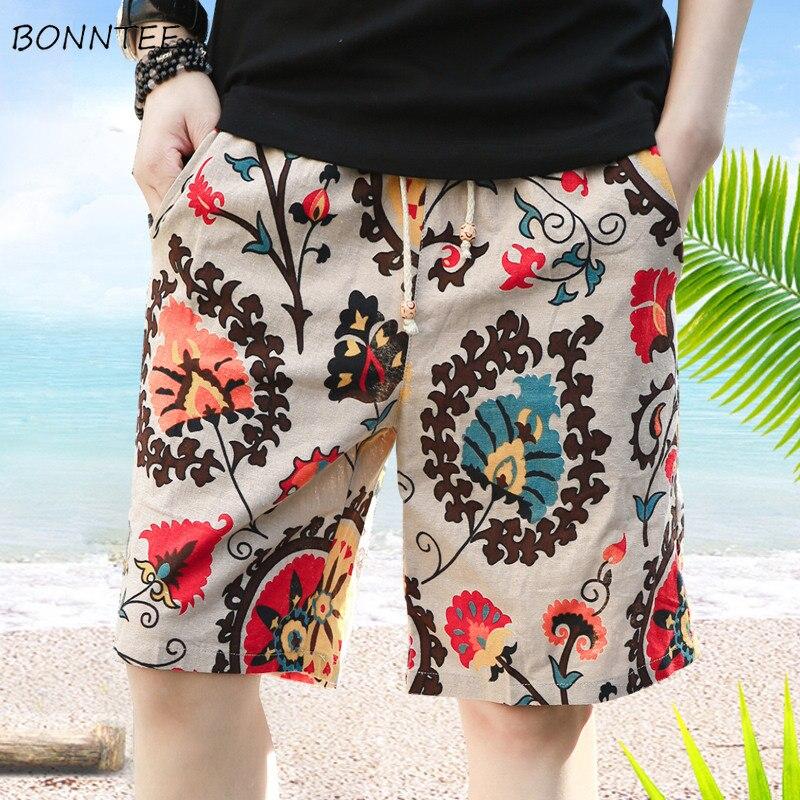 Shorts Men Waist-Pockets Elastic Knee-Length Korean-Style Summer New Chic Loose Daily