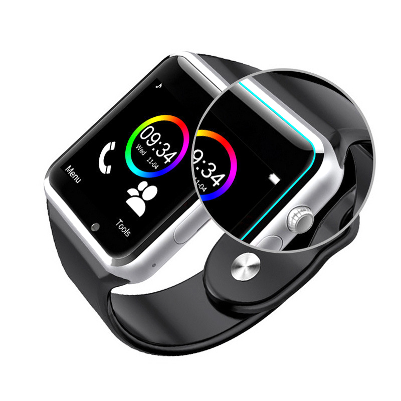 A1 Wristwatch Bluetooth Calling Smart Watch Sport Pedometer With Sim 0.3MP Camera Smartwatch For Android Smartphone Russian
