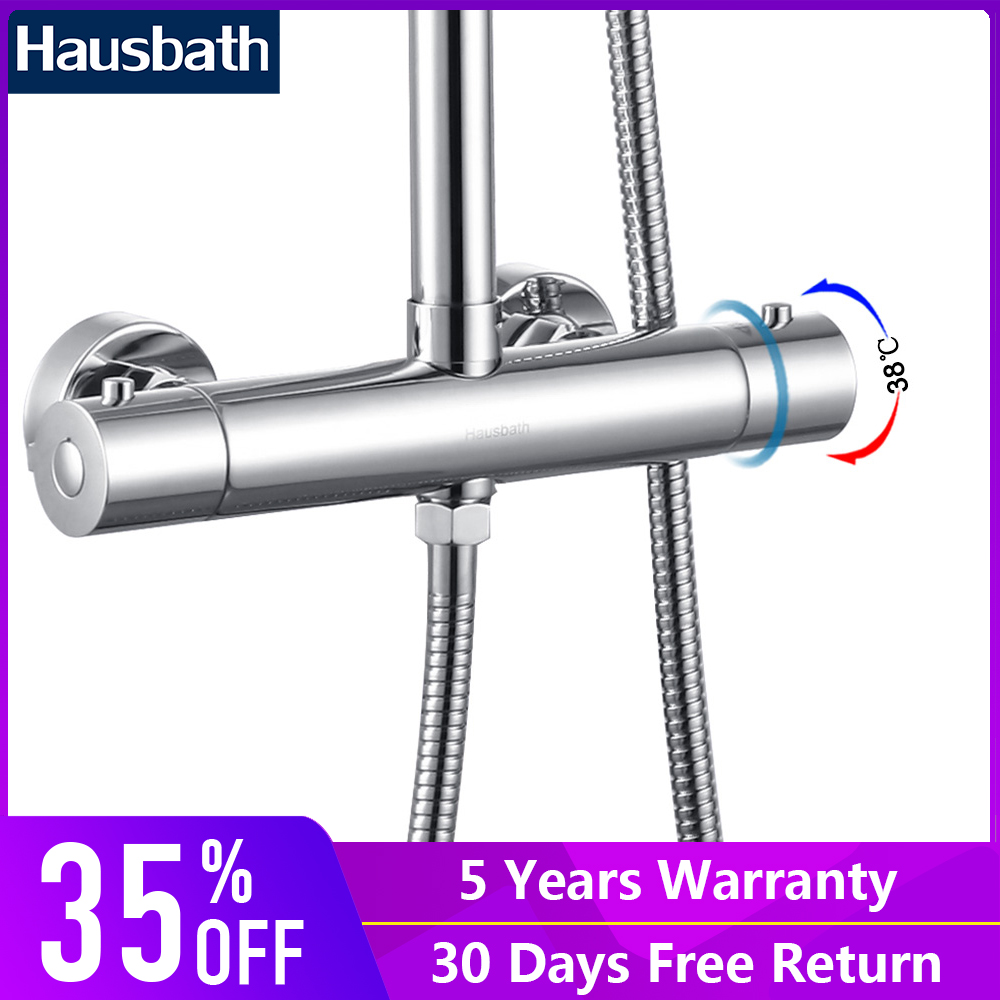 Chromed Bathroon Sink Faucet With Temperature Control: New Arrival Bathroom Shower Mixer Thermostatic Faucet