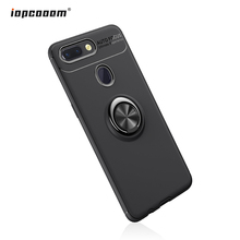 Luxury Cases For Xiaomi Mi 8 Lite Case Finger Ring Car Magnet Holder Soft Silicone Back Cover Coque5.26inch