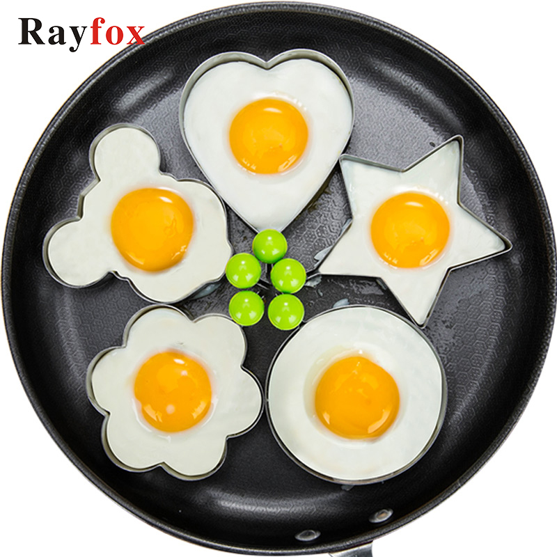 1pc Stainless Steel Fried Egg Mold Flower/ Heart/ Round Shaped Mould 4 Pattern Egg Mold Kitchen Gadgets Utensils For Egg Cooking In Many Styles Home & Garden Other Egg Tools