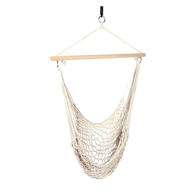 outdoor hammock chair hanging chairs swing cotton rope net swing cradles kids adults outdoor indoor swing