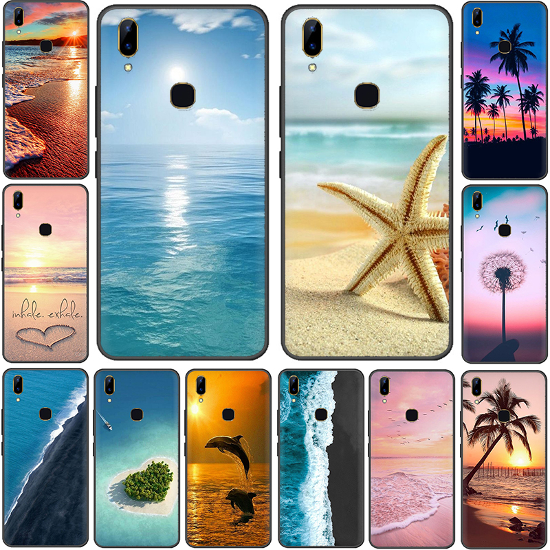 Summer Beach Relax Starfish Ocean Sky Sun Soft Phone Cover <font><b>Case</b></font> For <font><b>VIVO</b></font> <font><b>Y53</b></font> 55 55s 81 81s 17 69 71 91 95 V5 7 9 11 Z5X image