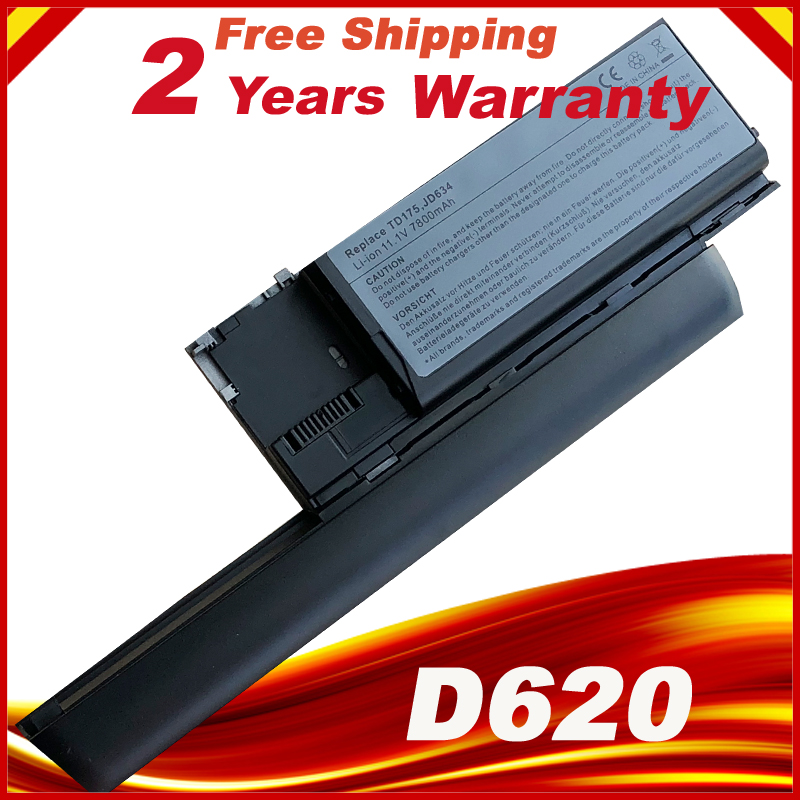 9 CELLS 7800mAh Laptop Battery for Dell Latitude d620 D630 D630N PC764 FG442 TD175-in Laptop Batteries from Computer & Office