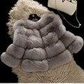 BFFUR Женщин Натурального Меха Лисы Пальто женщин Вся Кожа Натурального Меха Лисы Пальто Куртка Короткая Реального Лисицы Верхняя Одежда BF-C0011