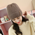 Female winter hat Tide Warm hedging cap Thick Ear defender Outdoor knitted hat skiing hat Beanies casual cap Male plus velvet