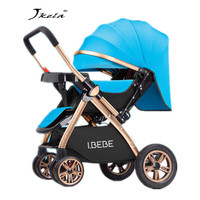 Multifunctional Baby Stroller 3 in 1 Luxury Folding Light carrying belt Suit for Lying Seat bassinet infant carriage bassinet