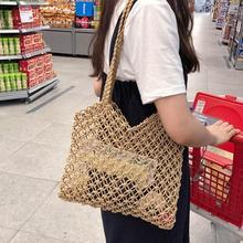Straw Hand Woven Braided Women Bag Hollow Out Handbag Vacation Bohemian Handmade Braided Totes Beach Bags Fashion Handbags Bag недорого