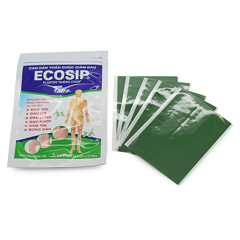 50Pcs/10bag ECOSIP Treatment Osteoarthritis Bone Hyperplasia Omarthritis Rheumatalgia Spondylosis Paste Pain Relieving Patch